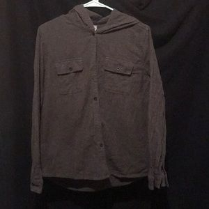 Hooded button up